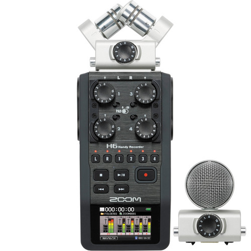 Zoom 6-6Track Portable Handy Recorder with Interchangeable Mic Capsules