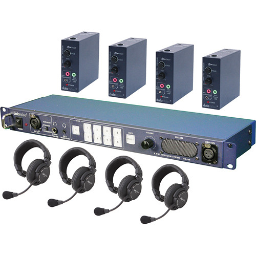 Datavideo ITC100HP1K – ITC-100 Wired Intercom System with Four HP-1 Headsets Kit