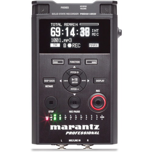 Marantz Professional PMD-661 MKIII 2-Channel / 2-Track Portable Audio Recorder