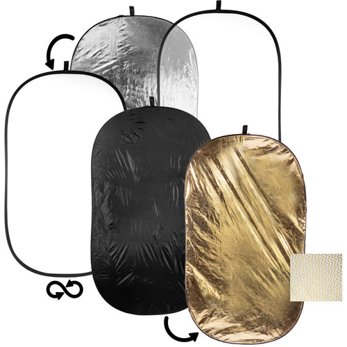 Film Crew 5-in-1 Collapsible Oval Reflector (42 x 72″)