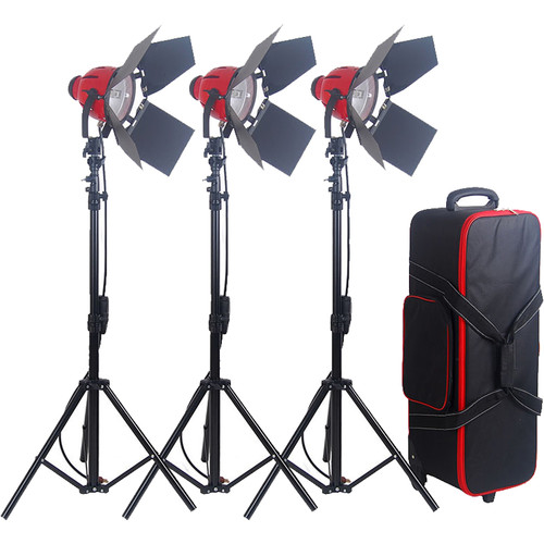 CAME-TV 800W Pro RED HEAD Continuous Light Fixture (3-Pack)