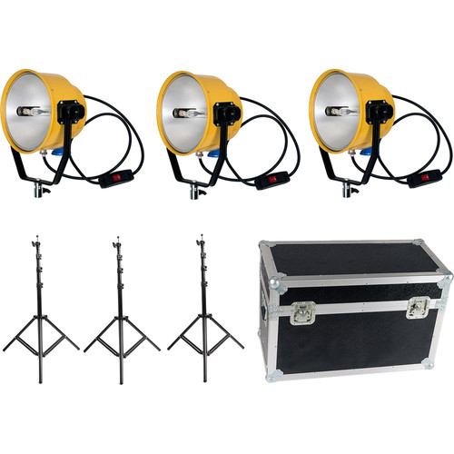 Film Crew 2000W/220V Yellow Head Continuous Video Studio Photo Light (3-Pack)