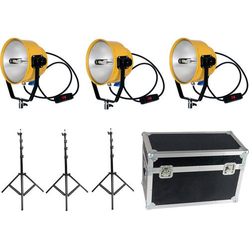 Film Crew 2000W/220V Yellow Head Continuous Video Studio Photo Light (3-Pack)