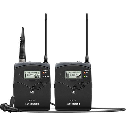 Sennheiser EW 112P G4 Camera-Mount Wireless Omni Lavalier Microphone System (A: 516 to 558 MHz)