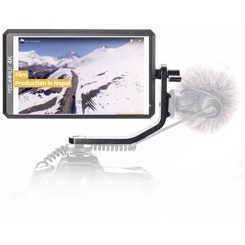 FeelWorld 5.7″ Full HD HDMI On-Camera Monitor with 4K Support and Tilt Arm