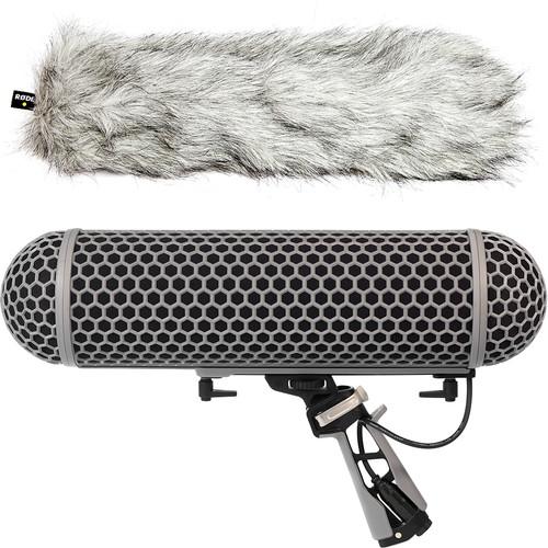 Rode Blimp Windshield and Rycote Shock Mount Suspension System for Shotgun Microphones