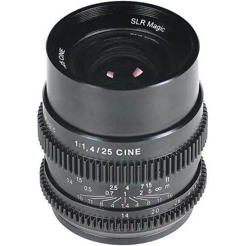 SLR Magic Cine 25mm f1.4 (E-mount Lens)